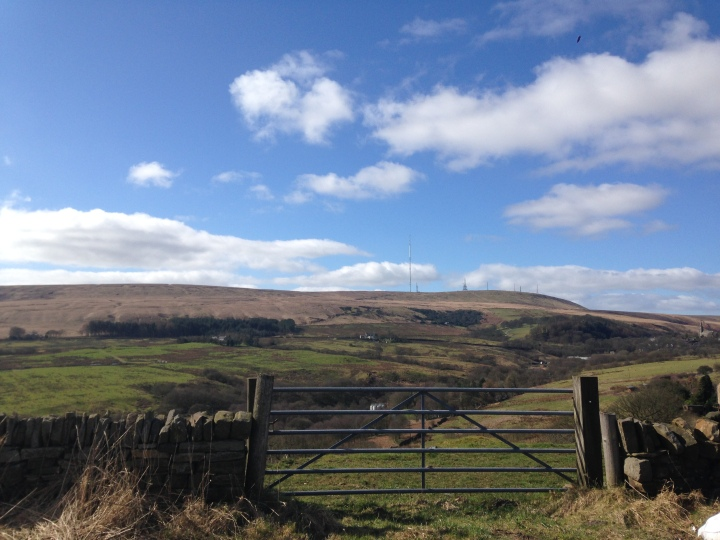 Winter Hill in the distance and our old friend 'sunshine'.